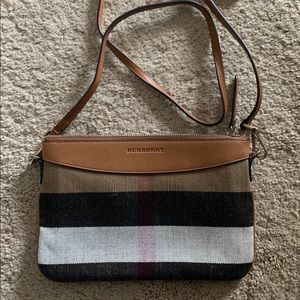 Burberry canvas check crossbody bag